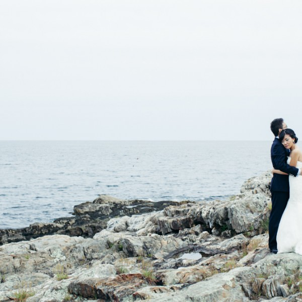 Serina & Kezhen on Bailey Island