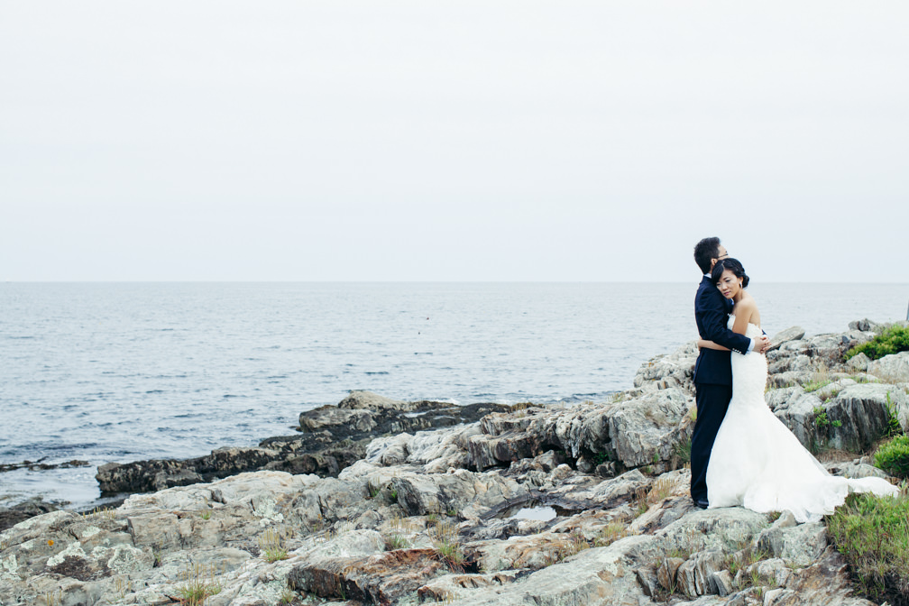 Serina & Kezhen on Bailey Island