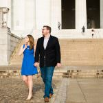 Engagement with couple at Lincoln Memorial and Dupont Circle in Washington D.C.