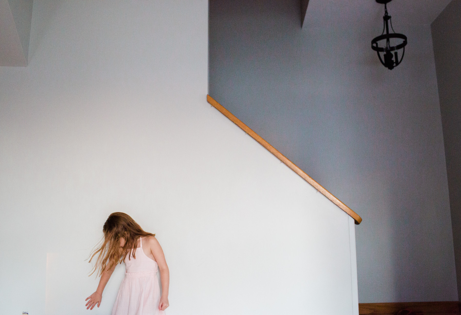 family photography in Portland Maine home with dog