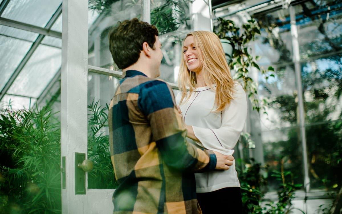Jenn + Quinn at Smith College Botanic Gardens