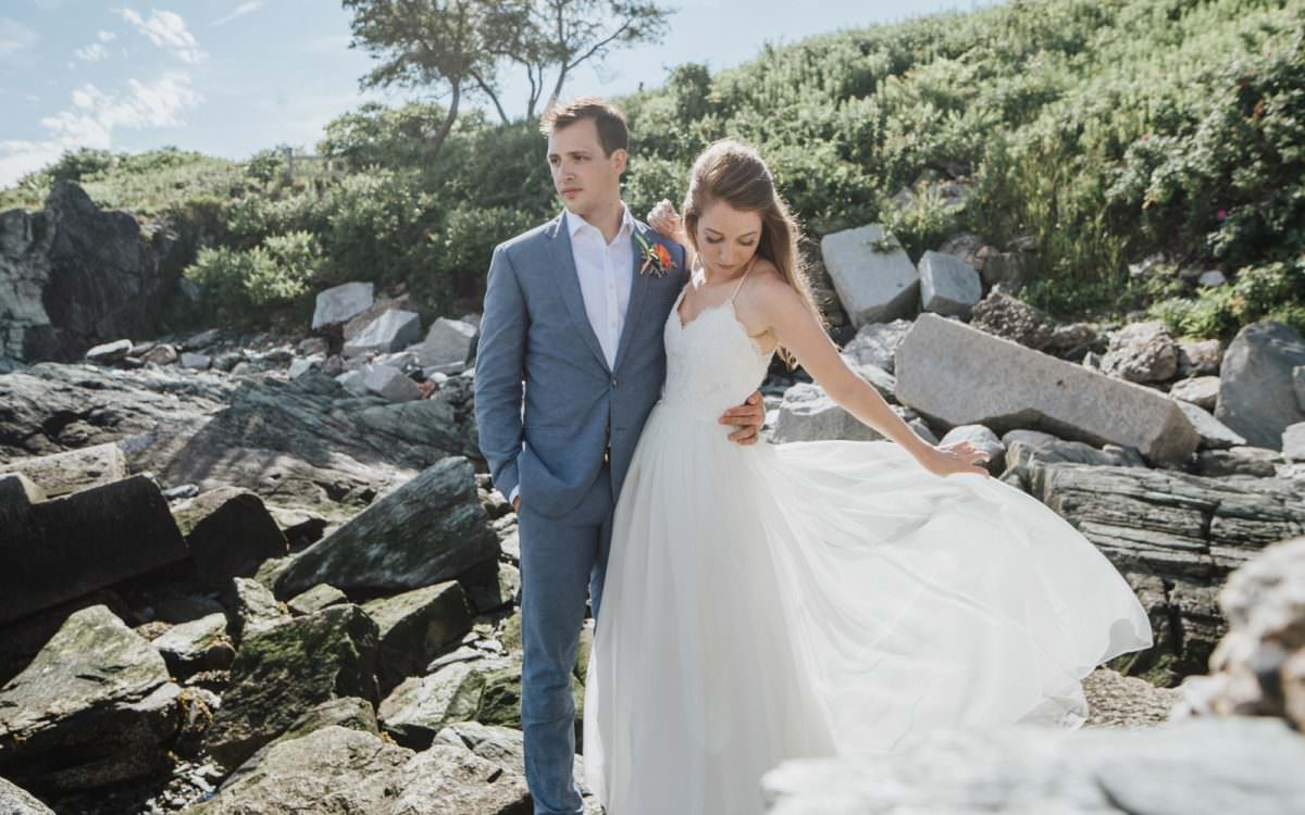 Kelsey + John's Modern Destination Wedding in Maine