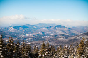 Hiking view from Kearsarge in the New Hampshire White Mountains.