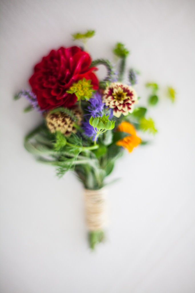 Wild and romantic summer wedding bouquet at Boothbay Harbor Maine wedding.