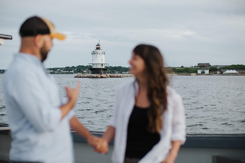 boat,couple,cruise,engagement,harbor,maine,martha's vineyard,new england,newport,portland,portrait,summer,sunset,